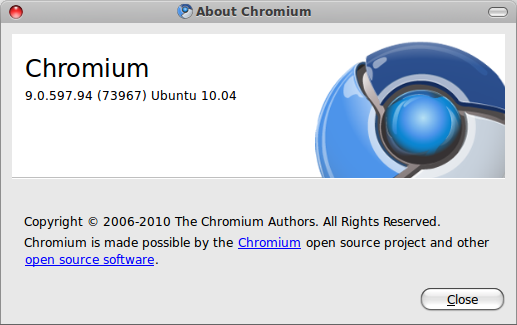 Chromium about