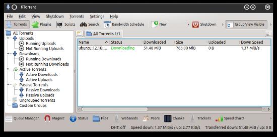 KTorrent BitTorrent client