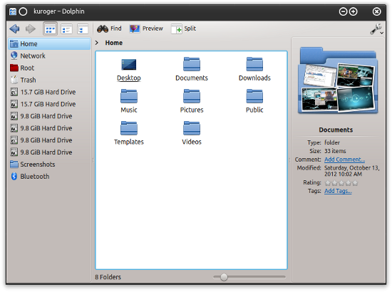 Dolphin file manager