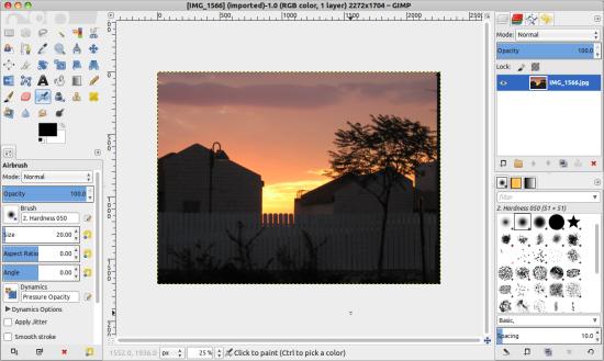 GIMP image manipulation software