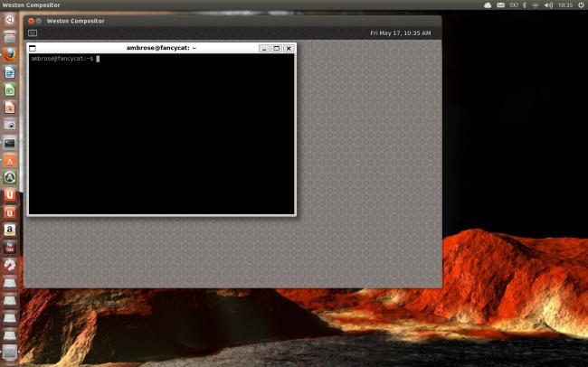 Weston running on top of X in Ubuntu 13.04