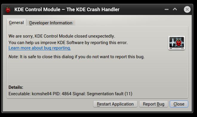 Application crash 2