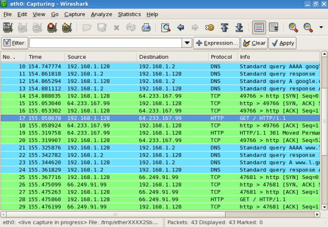 Packet log analysis