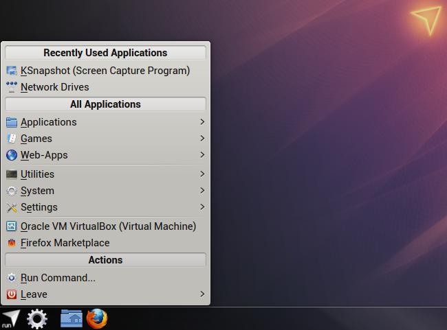 KDE Classic Menu