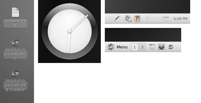 Razor-qt desktop elements