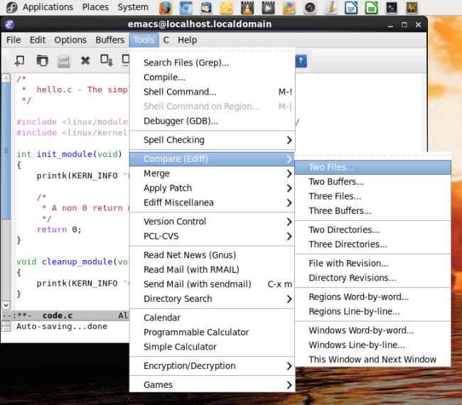 Emacs options