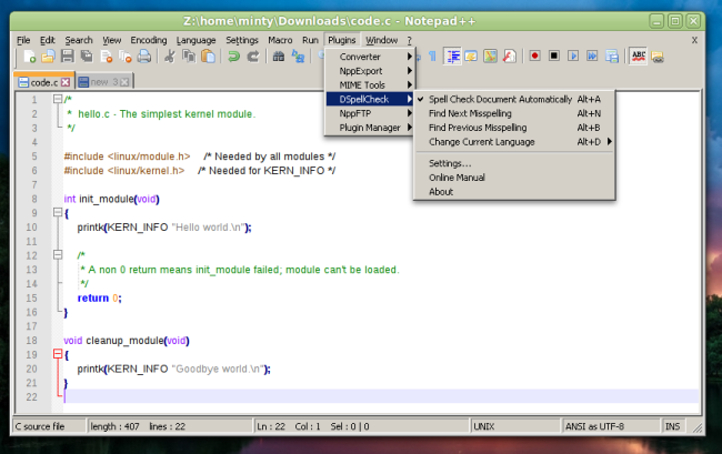 Notepad++ options