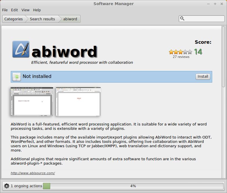 Install Abiword