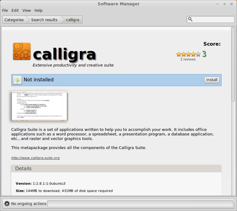 Install Calligra