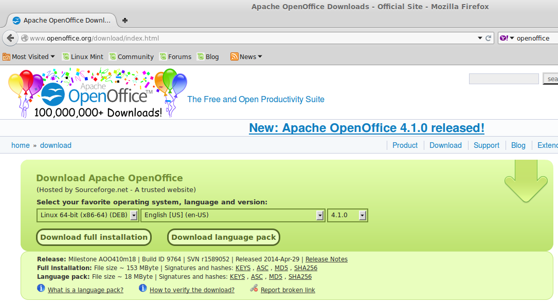 OpenOffice download