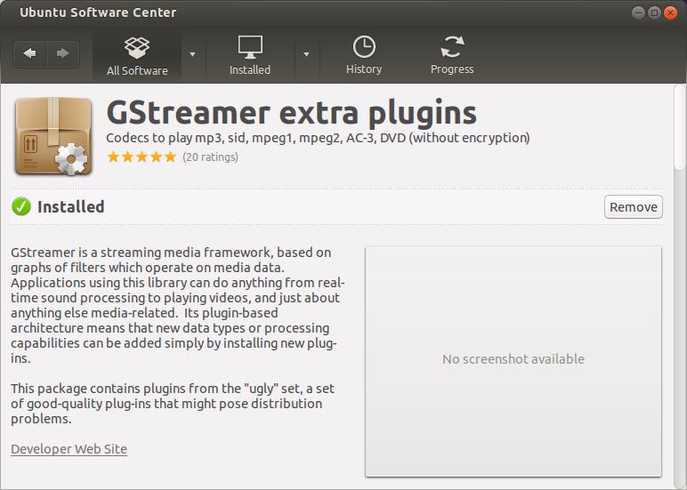 Gsteamer plugins, installed