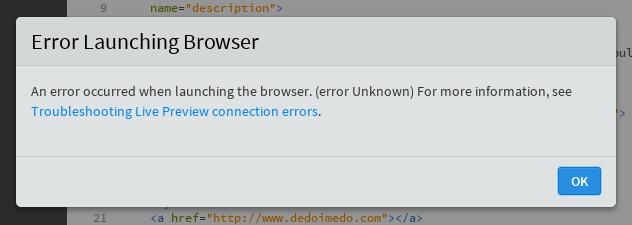 Preview error