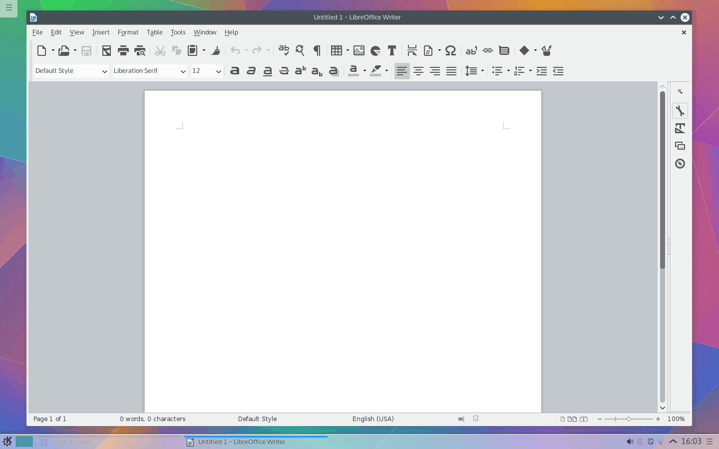 New LibreOffice