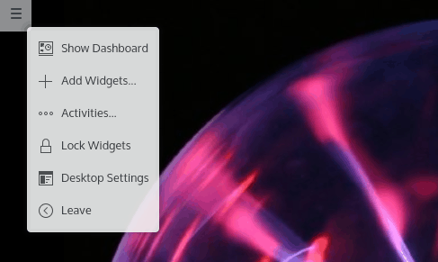 Quick access, desktop widgets